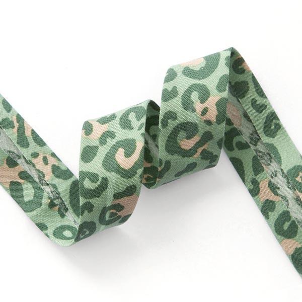 Schrägband Leo [ 20 mm ] – hellgrün/dunkelgrün