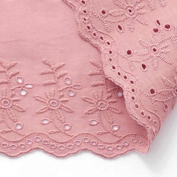 Feston ruban dentelle fleurs [ 9 cm ] – rose