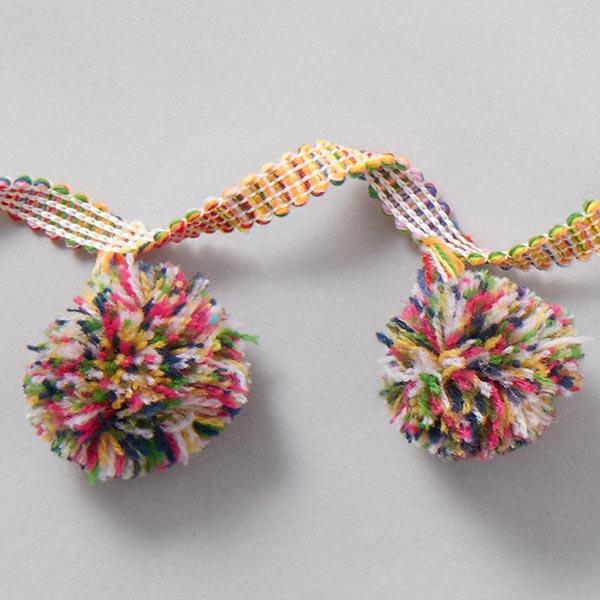 Galon pompons Big Pompons - multicolore