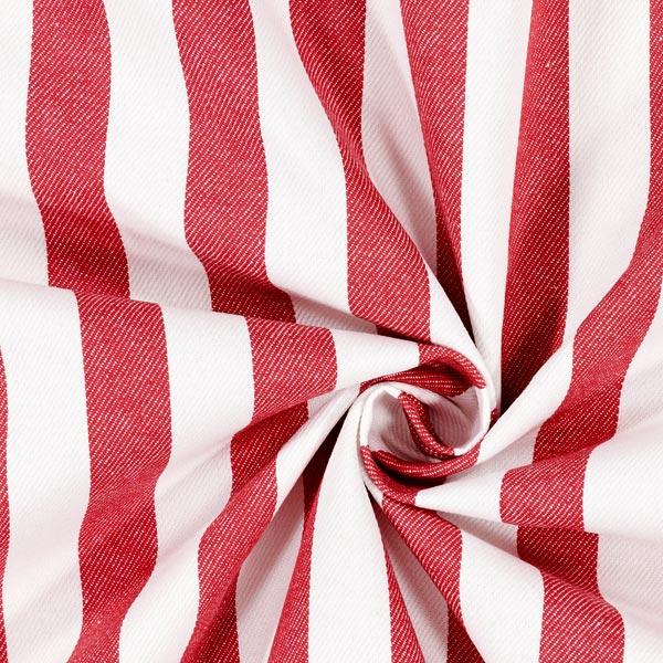 Tissu croisé en coton Rayures – blanc/rouge