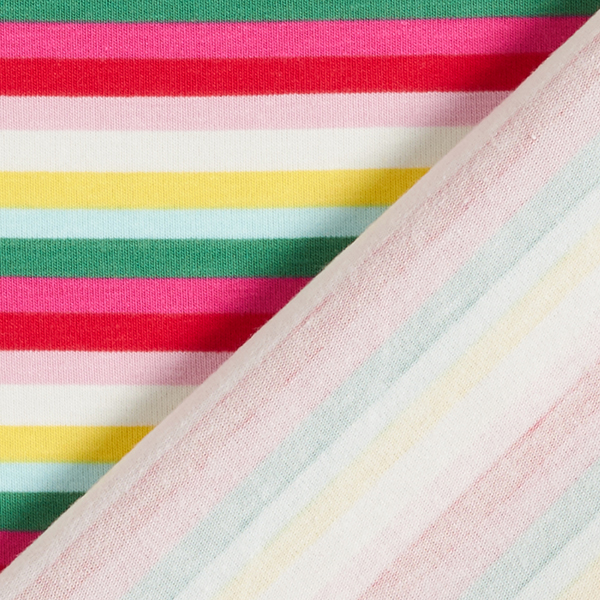 Jersey coton Rayures – blanc