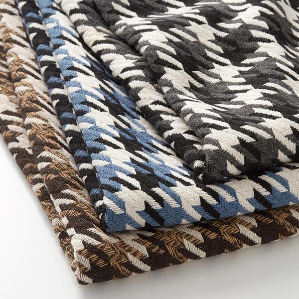 Tissu pour manteau Pied-de-poule grossièrement tissé – marron