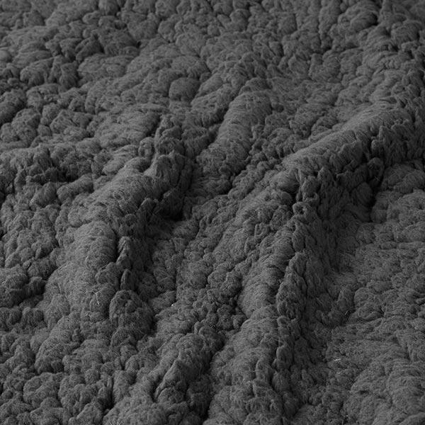 Fourrure synthétique Peau de mouton – gris foncé