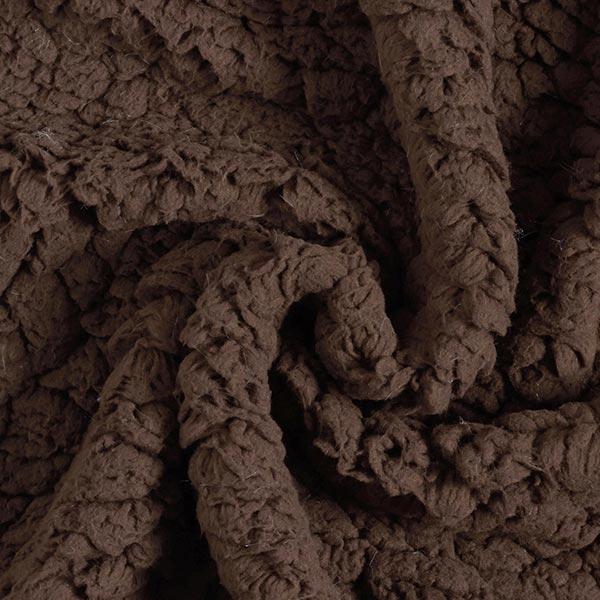 Fourrure synthétique Peau de mouton – marron foncé