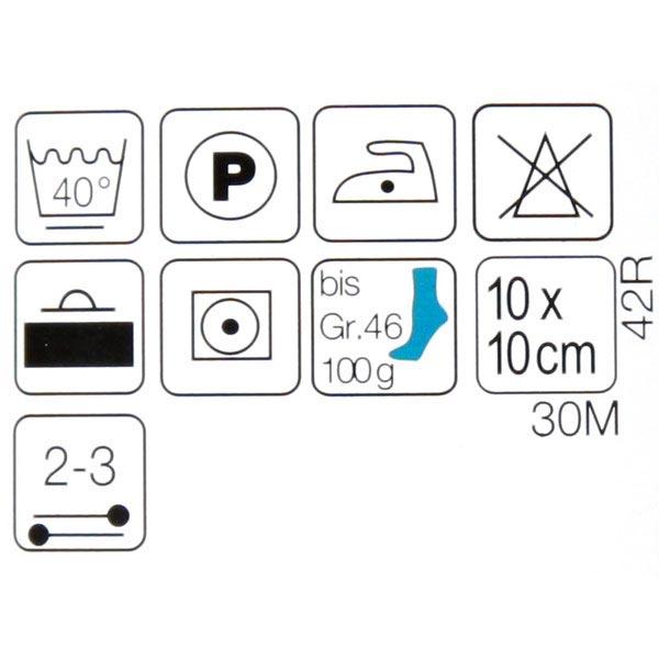 Laine de chaussette 4x Colibri | Rellana, 100 g