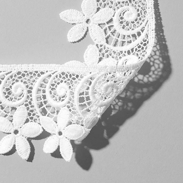 Dentelle à l'aiguille Fleur [52 mm] - blanc