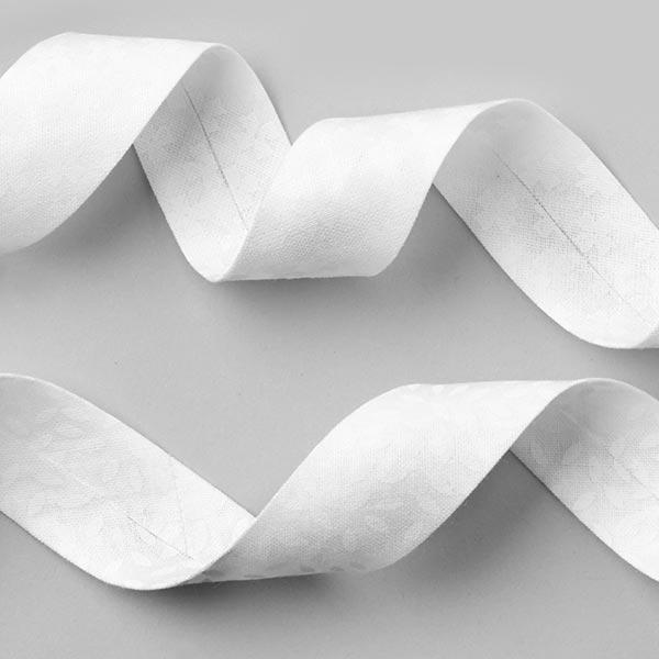Biais Feuilles 2 [20 mm] - blanc