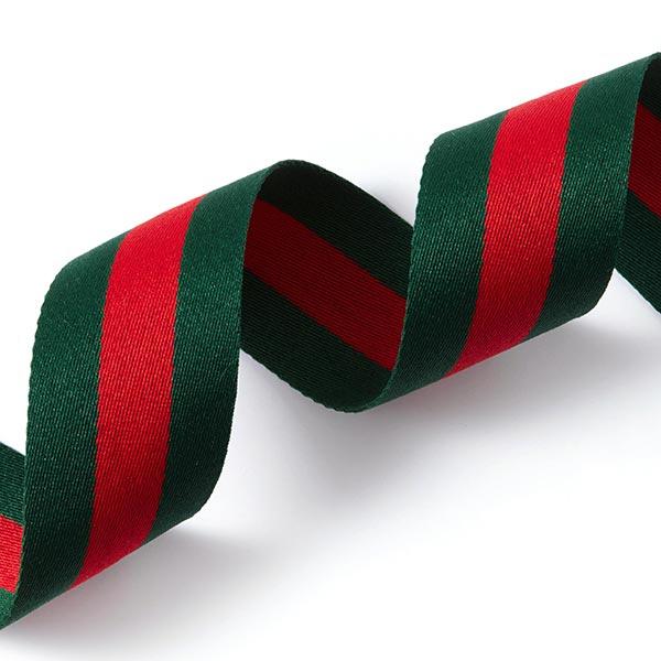 Webband Streifen [40 mm] – grün/rot