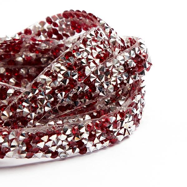 Aufbügelbare Perlenborte - rot