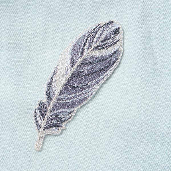 Application Plume dorée [2,3 x 7 cm] - gris