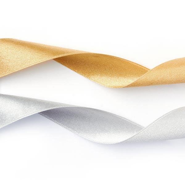 Satinband Doubleface - gold