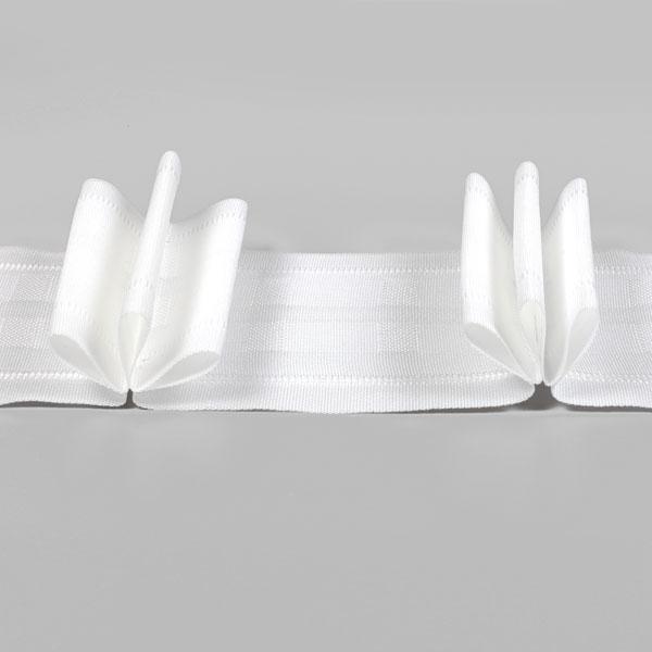 Triple bande plissée 75 mm