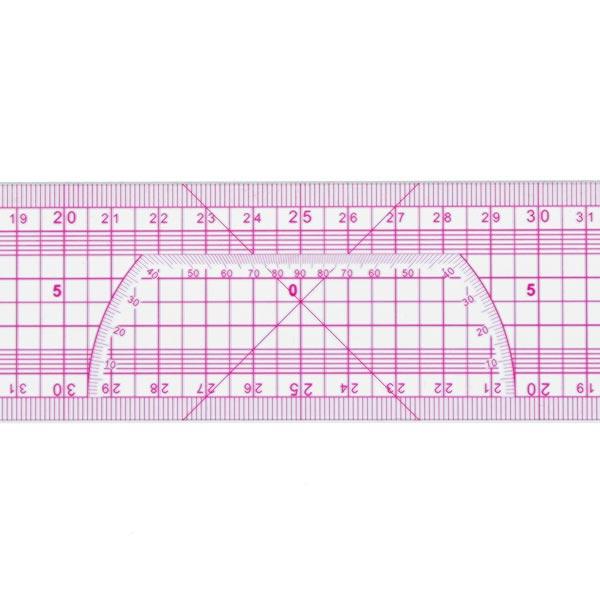 Patchwork-Lineal [5 x 50 cm] - transparent