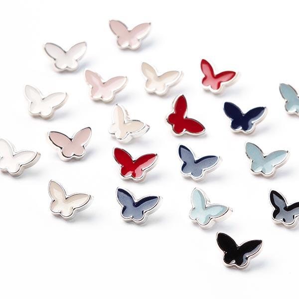Bouton en plastique Papillon - blanc cassé