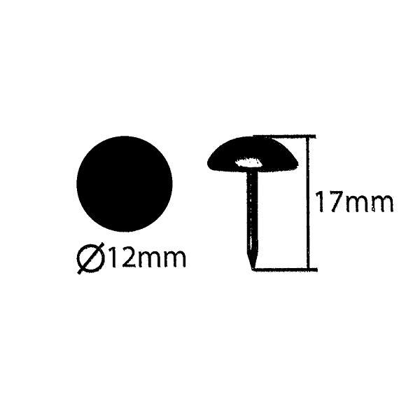 clous tapissier [ 17 mm | 50 Stk.] - noir