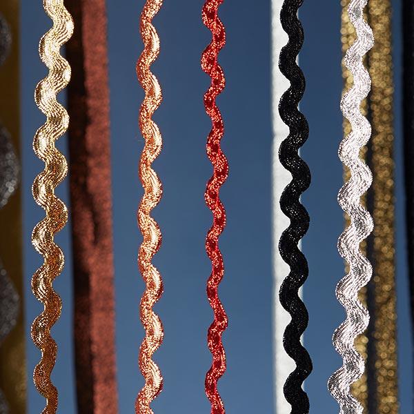 Galon dentelé Lurex [12 mm] - argenté