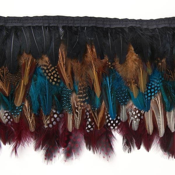 Galon plumes Pandora - turquoise