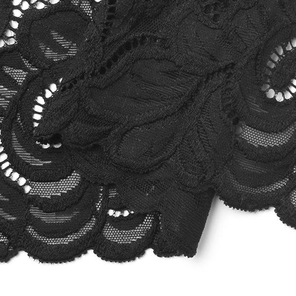 Dentelle élastique Aphrodite [165 mm] - noir