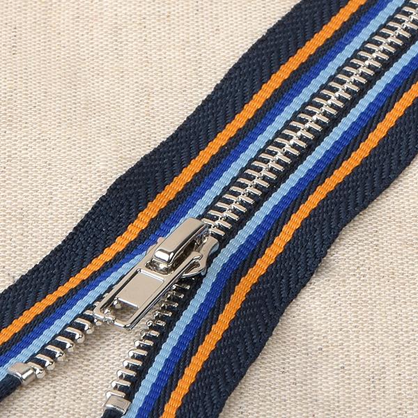 Reisverschluss  – marineblau/orange