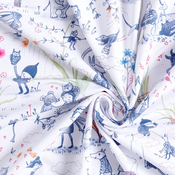 Bio Jersey coton Réveil printanier | Lillestoff – blanc