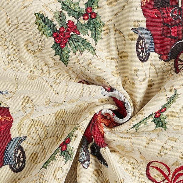 Tissu de décoration Gobelin Père Noël – beige