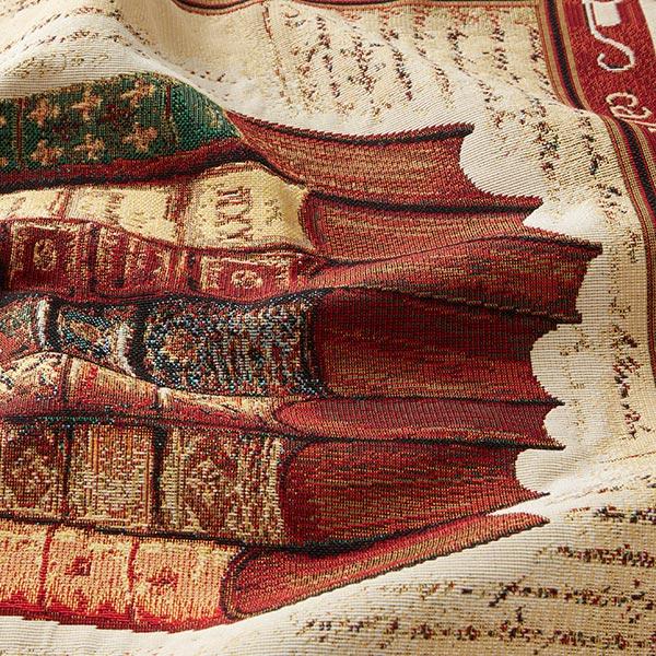 Tissu de décoration pièce Gobelin Livres – beige