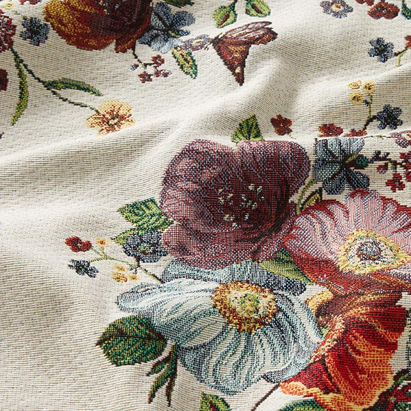 Tissu de décoration pièce Gobelin Fleurs – beige