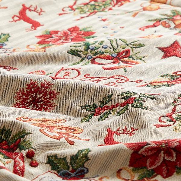 Tissu de décoration Gobelin Décoration de Noël – écru