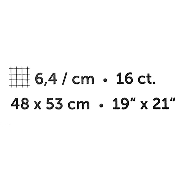 "Aida - 48 x 53 cm   19"" x 21"", 3"