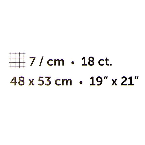 """Aida fine - 48 x 53 cm   19"""" x 21"""", 1"""