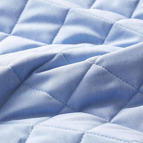 Tissu matelassé Motif losanges – bleu clair