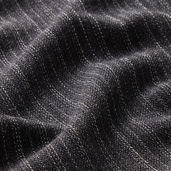 Tissu pour manteau Mélange laine vierge Rayures verticales fines – anthracite/blanc