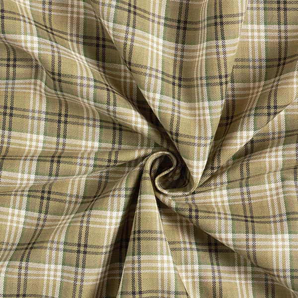 Tissu pour chemise 100% coton Charles – olive clair