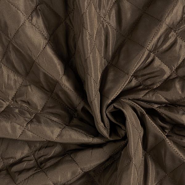 Tissu matelassé et doubluré Motif losanges – marron foncé/beige