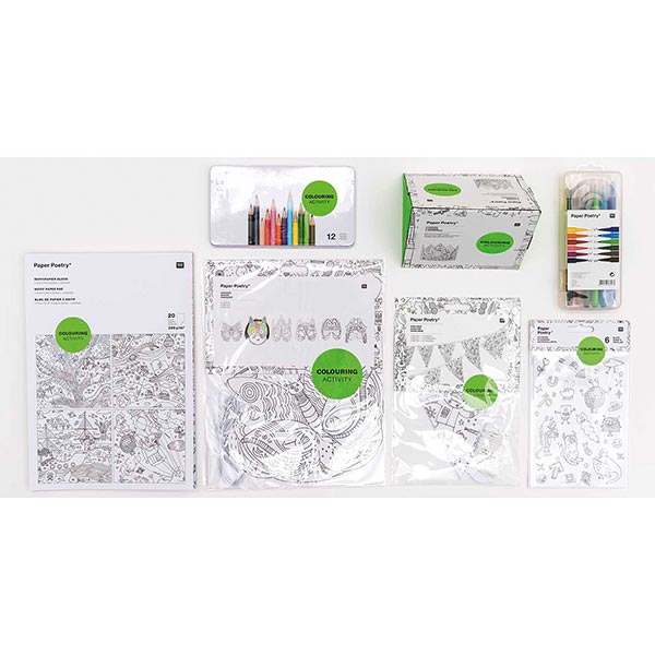 stayhome Set Coloriage pour enfants | Rico Design