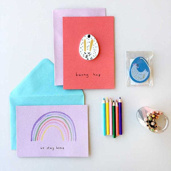 stayhome Set Création de cartes pour enfants (+ Spécial Pâques)| Rico Design