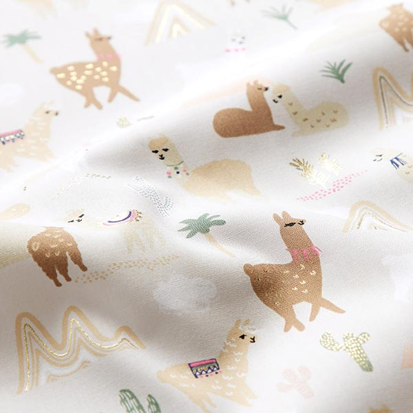 Tissu de décoration Popeline Lama – nature