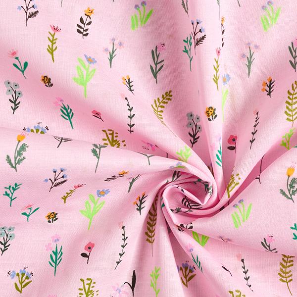 Mousseline coton double épaisseur Millefleurs – rose vif