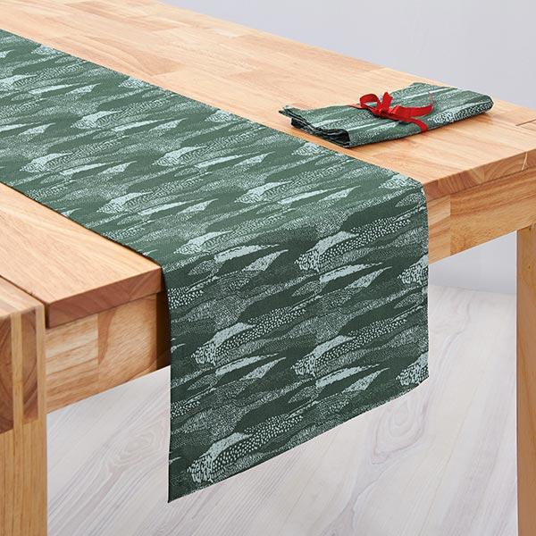 Tissu de décoration Canvas  Motif à pois | Rico Design – vert foncé