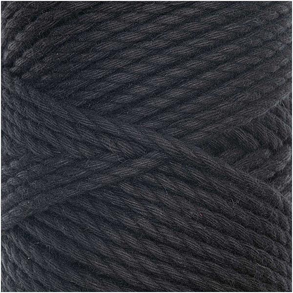 Creative Cotton Cord Skinny Makramee-Garn [3mm] | Rico Design - schwarz