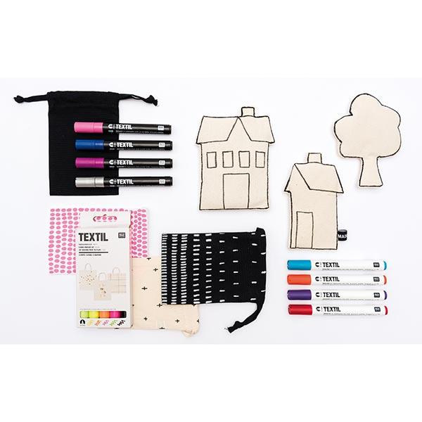 Lot crayons pour textiles «Top 10»   RICO DESIGN