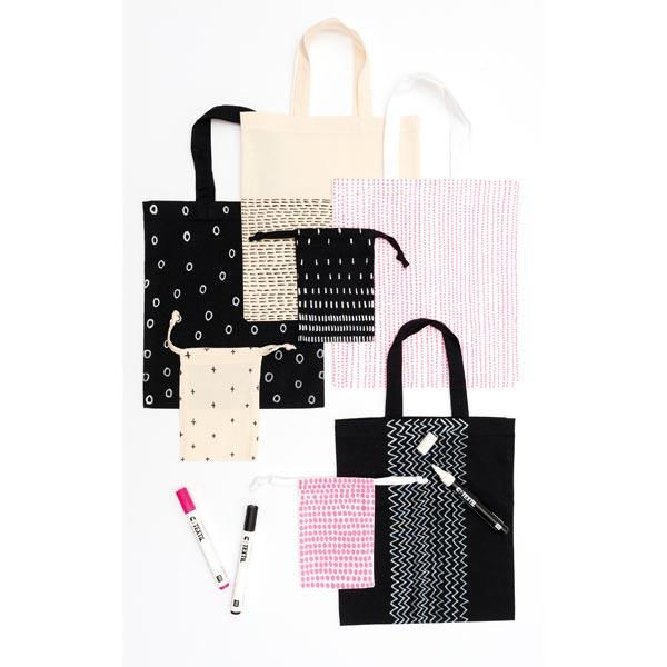 Textilmarker - schwarz - helle Stoffe | Rico