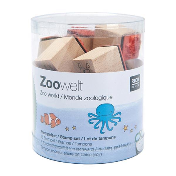 Set tampons encreurs Univers du zoo, 15 pièces |