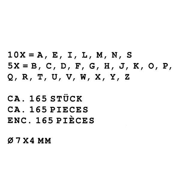 Perles alphabet, rond – noir/blanc | Rico Design