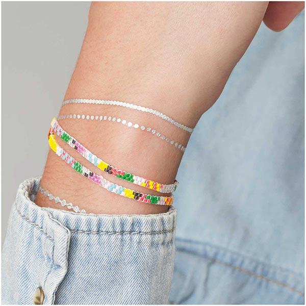 Itoshii Perles Tube Transparent   RICO DESIGN - argent vieilli