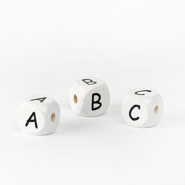 Lettres alphabet en bois I – blanc | Rico Design