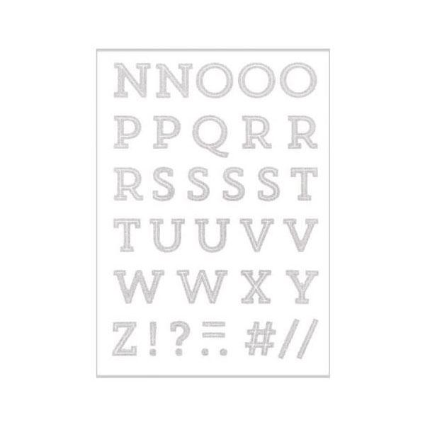 Pellicule à repasser pailletée A–Z   Rico Design