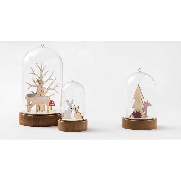 Déco en bois noël Set [ 3 x 1,8 cm / 2,5 x 4,2 cm ] | Rico Design – nature