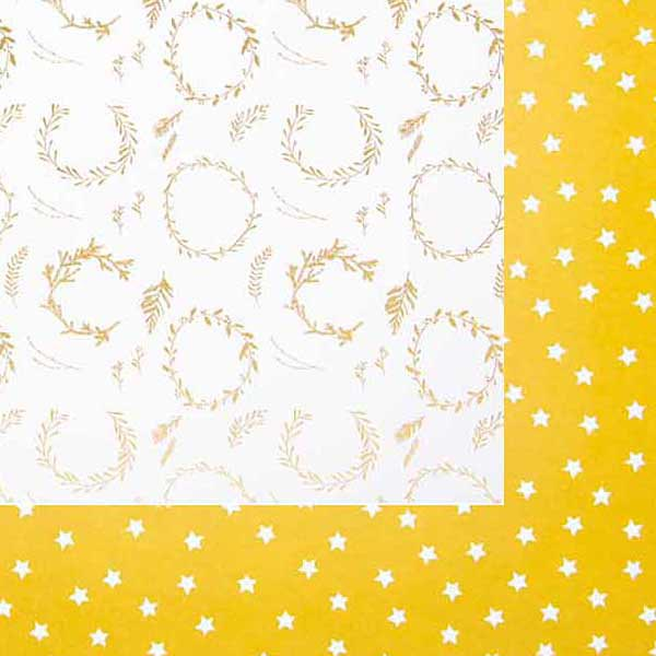 Carton à motif Couronnes | Rico Design – or