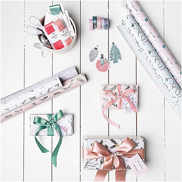 Papier cadeau Décoration de sapin | Rico Design – bleu